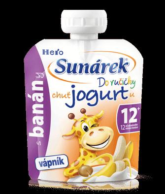 SunárekDo ručičky banán schutí jogurtu