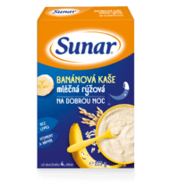 Banánová kaše mléčná rýžová nadobrou noc