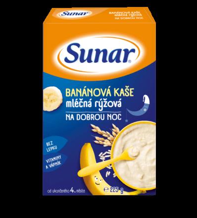 Banánová kaše mléčná rýžová na dobrou noc