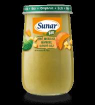 BIO dýně, brokolice, brambory, olivový olej